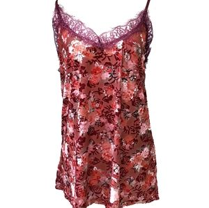 Janina Floral Embossed Camisole Tank Top